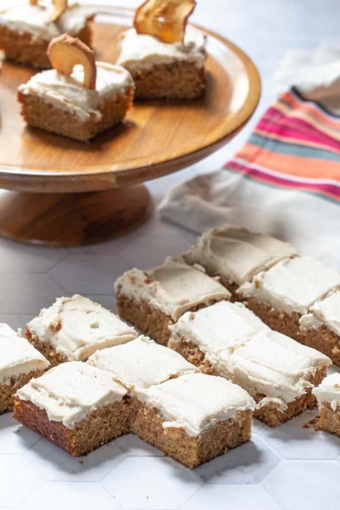 apple spice cake squares