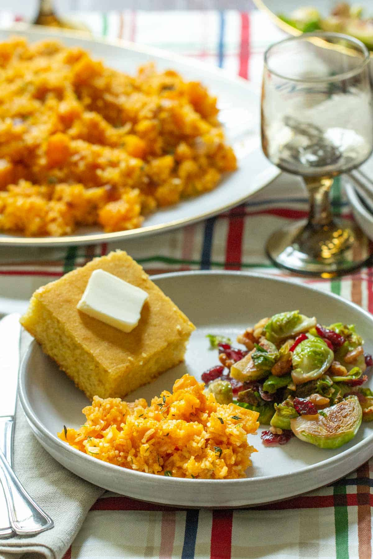 thanksgiving side dishes on a plate